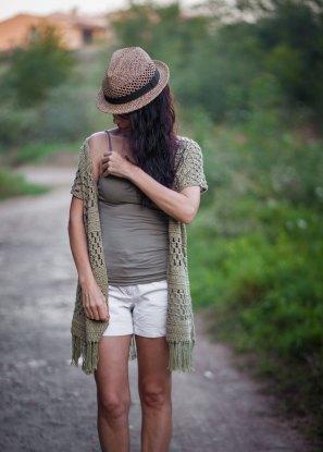 Granny stripes kimono vest